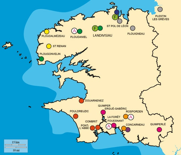 Carte des adhérents du réseau Océlorn