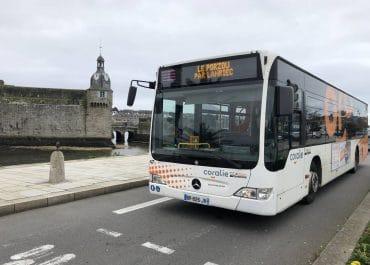 Le Porzou Lanriec ligne de bus transport urbain de Concarneau Finistère port ville close